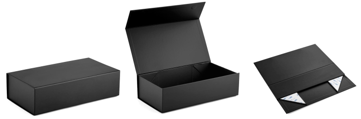foldable gift boxes with magnetic closure